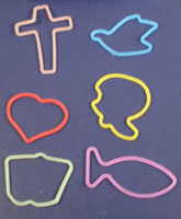 Religious Symbols Crazy Bands (Pkg of 12)