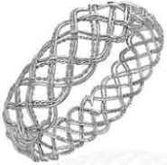 Celtic Trinity Cris-Cross Twisted Wave Bangle