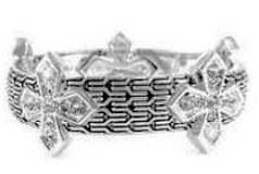 Crystal Cross Magnetic Closure Bracelet