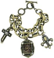 Antique Gold Cross Bracelet Watch