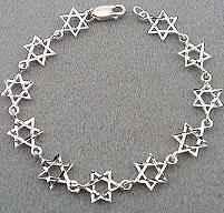Sterling Silver - Star of David Bracelet - Diamond Cut