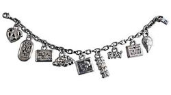 Faith, Pray Christian Charm Bracelet Silver