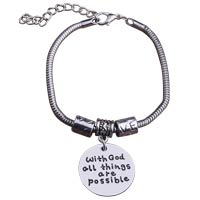 With God All Things Are Possible Chain Bracelet