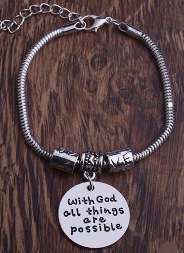 With God All Things Possible Chain Bracelet