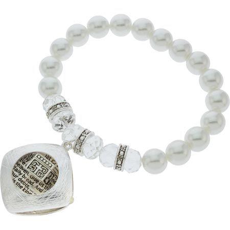 Lord's Prayer Box Pearl Bracelet