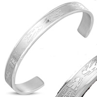 Guardian Angel Cuff Bangle Stainless Steel
