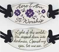 Here I Am to Worship Christian  Inspirational Bracelet
