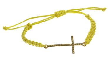 Sideway Rhinestone Cross Bracelet
