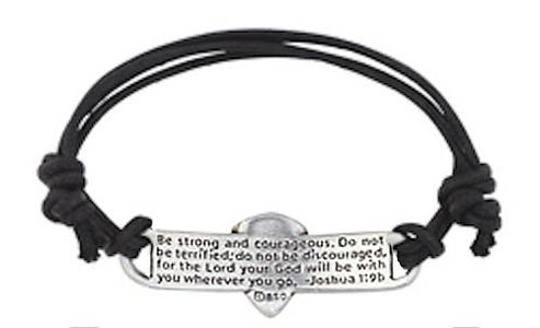 Shield of Faith Leather Bracelet