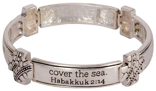 Scripture Bracelet: Glory of the Lord, Silver