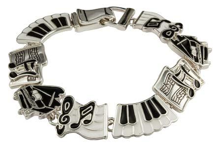 Piano Keyboard Music Charm Bracelet