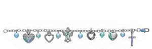 Angel and Heart Charm Bracelet