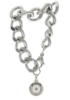 Faith Mustard Seed Bracelet Heavy Chain, Stainless