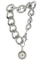Faith Mustard Seed Bracelet Heavy Chain, Stainless