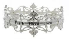 Silver Filigree - Faith, Hope, Love - Bracelet