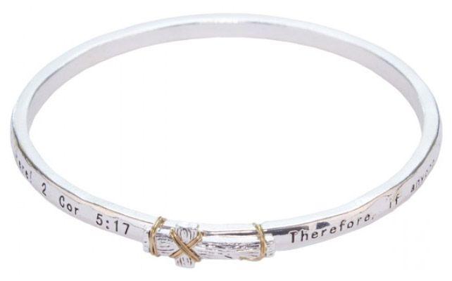 2 Corinthians 5:17 Cross Bracelet