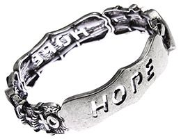 Hope Burnished Silver Stretch Bracelet