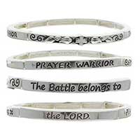 Prayer Warrior Silver Bracelet