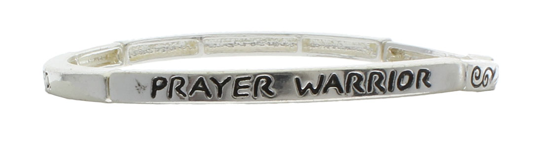 Prayer Warrior Bracelet Silver