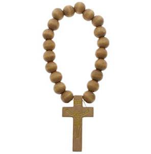 Crucifix Wooden Beaded Bracelets Catholic