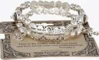 Trust in the Lord Fashion Bracelet Silver
