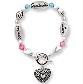 Special Aunt Silver Heart Bracelet