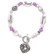 Sister Friend Forever Silver Bracelet