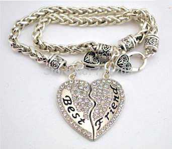 Best Friend Silver Bracelets Set of 2