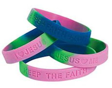 Faith, Hope Love Jesus Silicone Bracelets
