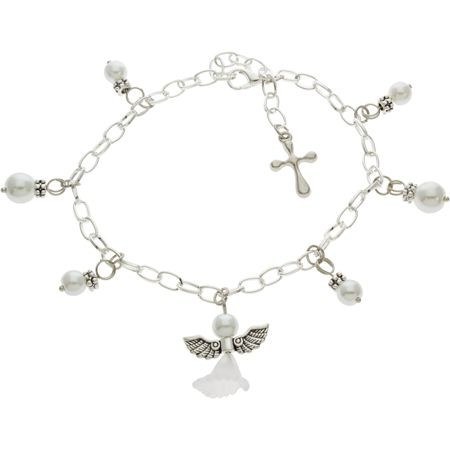 Angel Bracelet or Necklace Charm Charm For Bracelet Silver Plated 1.5 inches add on Angel Charm with a Lobster Clasp Closure