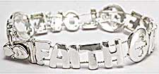 Faith Hope Love Bracelets Silver