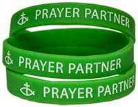 Prayer Partner Silicone Bracelets w/ Cross
