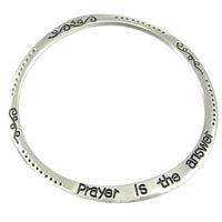 Prayer is the Answer Flat Bangle Bracelet