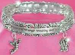 Angel Watching Over You Bracelet  With Charms