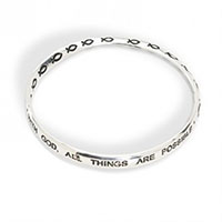 With God All things Are Possible Bracelet Silver