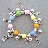 Music and Dance Beaded Stretch Bracelet