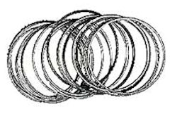Silver Jet Fashion Bangle Bracelet (Pkg of 18)