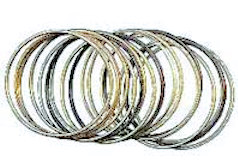Gold Jet Fashion Bangle Bracelet (Pkg of 18)