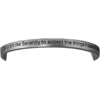 Serenity Prayer Pewter Bangle Bracelet