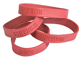 Burgundy Awareness Rubber Bracelets (Pkg of 24)