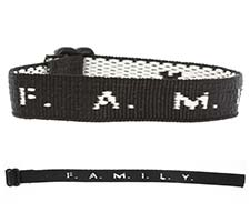 F.A.M.I.L.Y. Woven Bracelet