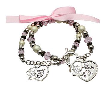 Mother Daughter Angel Bracelets Gift Set