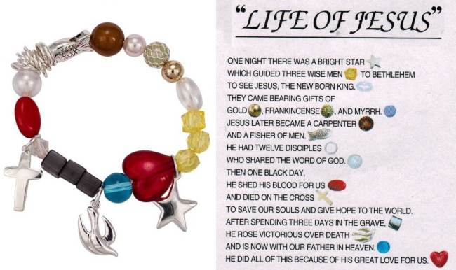 Life of Jesus Stretch Charm Bracelet