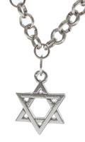 Star of David Silver Link Bracelet
