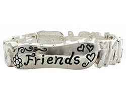 Friends in Christ Stretch Bracelet Silver
