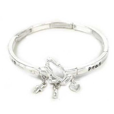 Pray Without Ceasing Silver Bracelet