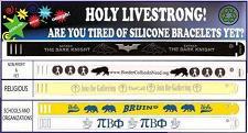 Custom Printed Plastic Bracelets (100 min)