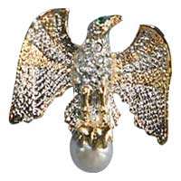 Eagle Brooch on Pearl