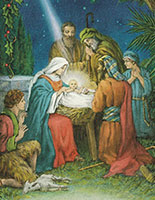 Christmas Church Bulletins Nativity Scene (Pkg of 100)