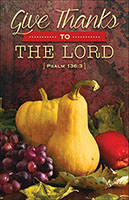 Thanksgiving Church Bulletins (Pkg of 100)